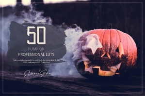 50 Pumpkin LUTs and Presets Pack