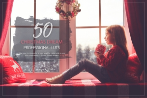 50 Christmas Dream Presets and LUTs Pack