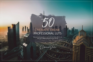 50 Cinematic Drone Presets and LUTs Pack