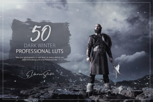 50 Dark Winter Presets and LUTs Pack