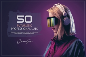 50 Futuristic Presets and LUTs Pack