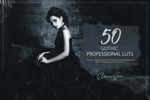 50 Gothic Presets and LUTs Pack