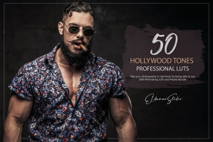 50 Hollywood Tones Presets and LUTs Pack