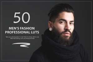 50 Men's Fashion Presets and LUTs Pack