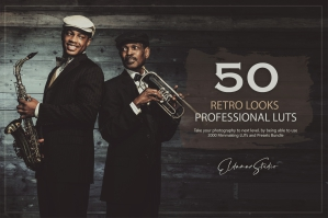 50 Retro Looks Presets and LUTs Pack