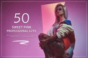 50 Sweet Pink Presets and LUTs Pack