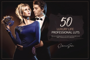 50 Luxury Life Presets and LUTs Pack