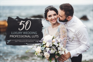 50 Luxury Wedding Presets and LUTs Pack