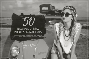 50 Nostalgia Black and White Presets and LUTs Pack