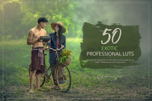 50 Exotic Presets and LUTs Pack