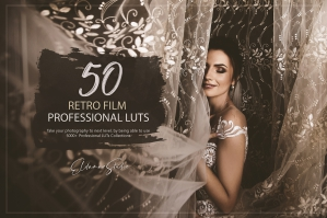 50 Retro Film Presets and LUTs Pack