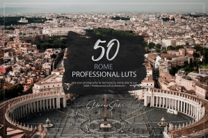 50 Rome Presets and LUTs Pack