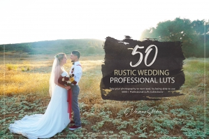 50 Rustic Wedding Presets and LUTs Pack