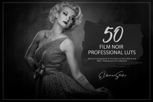 50 Film Noir Presets and LUTs Pack