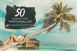50 Summer Vibes Presets and LUTs Pack