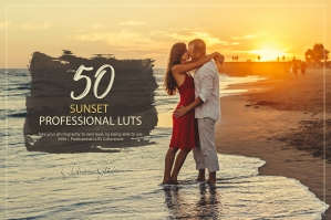 50 Sunset Presets and LUTs Pack
