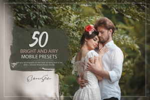 50 Bright and Airy Mobile Presets Pack