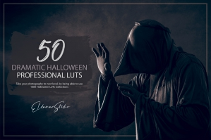 50 Dramatic Halloween LUTs and Presets Pack