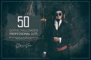 50 Gothic Halloween LUTs and Presets Pack