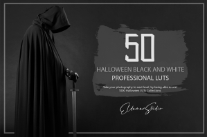 50 Halloween Black and White LUTs and Presets Pack