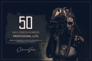 50 Halloween Horror LUTs and Presets Pack
