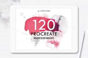 120 Watercolor Procreate Brushes