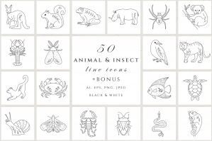 Animal & Insect Icon Set