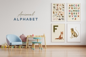 Kids Animal Alphabet and Letter Cards