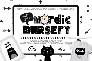 Create Your Own Nordic Nursery Kit for Procreate