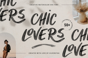 Chic Lovers - Watercolor SVG Font