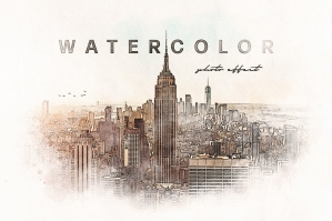 Watercolor Painting Photo Effect