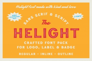 Helight - Crafted Font