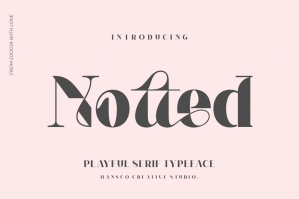 Notted - Playful Serif Font