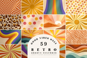 Retro Vibes Abstract Paper