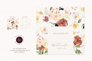 Flower Pattern Watercolor Background Flowers Collection