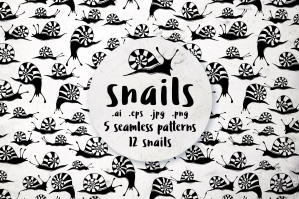 Snails - Patterns and Illustrations