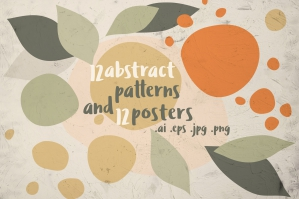 12 Abstract Patterns and Posters
