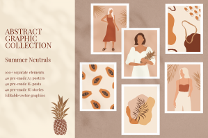 Summer Neutrals Abstract Collection