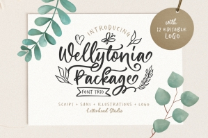 Wellytonia Package - Font Trio