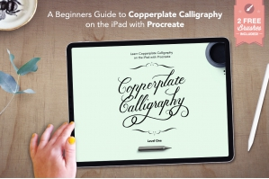 Learn Copperplate Calligraphy on the iPad with Procreate