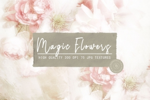 Watercolor Floral Backgrounds Collection