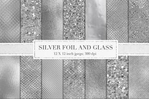 Silver Foil and Glass Textures