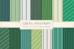 Green Pinstripe Fabric Backgrounds