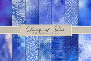 Blue Metallic and Foil Textures