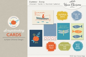 Summer Song Cards and Painted Labels