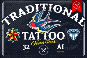 Traditional Tattoo Vector Pack