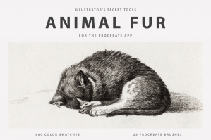 Animal Fur Procreate Brushes & Color Swatches