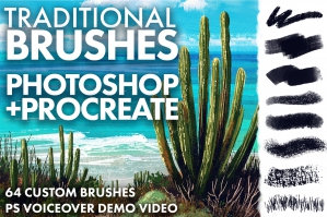 Traditional Textures Brush Set