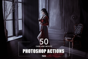 50 Dark and Moody Photoshop Actions