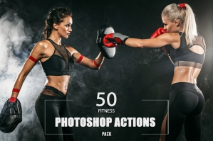 50 Fitness Photoshop Actions